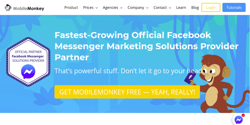 Mobile Monkey Chatbot