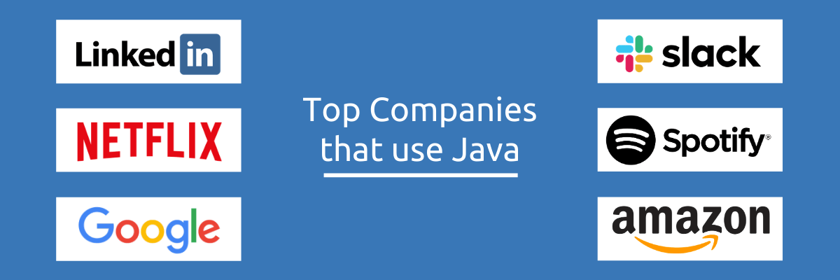 Top Companies that use Java